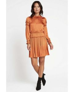Rouched Mini Dress in Tumeric