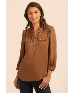Trina Turk - Blue Sky Top in Toasted Coconut