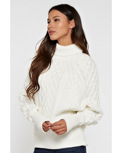 Ivory Over-Sized Cable Knit